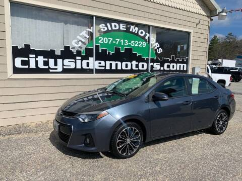 2015 Toyota Corolla for sale at CITY SIDE MOTORS in Auburn ME