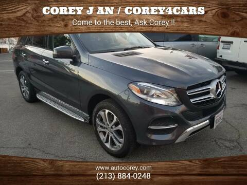 2016 Mercedes-Benz GLE for sale at WWW.COREY4CARS.COM / COREY J AN in Los Angeles CA
