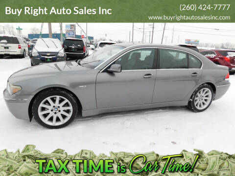 2005 BMW 7 Series for sale at Buy Right Auto Sales Inc in Fort Wayne IN