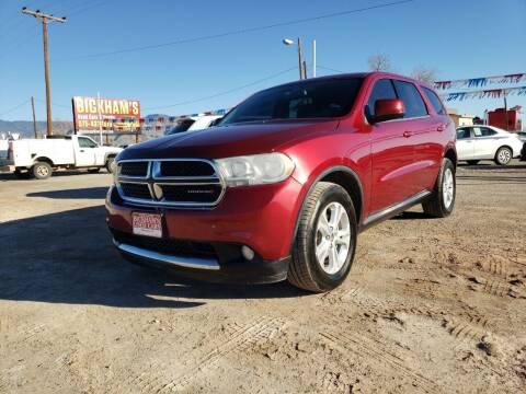 2013 Dodge Durango for sale at Bickham Used Cars in Alamogordo NM