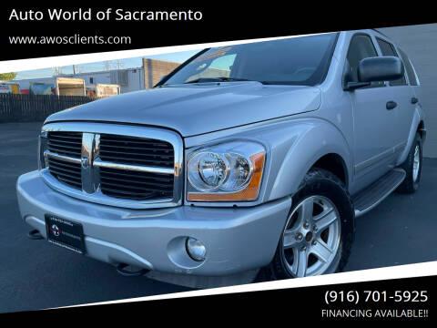 2004 Dodge Durango for sale at Auto World of Sacramento Stockton Blvd in Sacramento CA