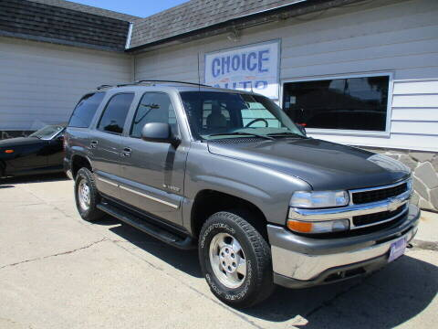 2002 Chevrolet Tahoe for sale at Choice Auto in Carroll IA