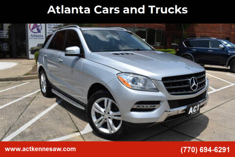 2013 Mercedes-Benz M-Class for sale at Atlanta Cars and Trucks in Kennesaw GA