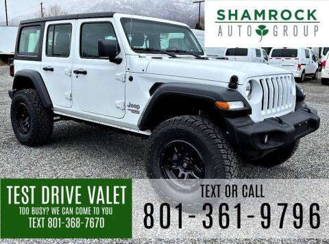 2020 Jeep Wrangler Unlimited for sale at Shamrock Group LLC #1 in Pleasant Grove UT