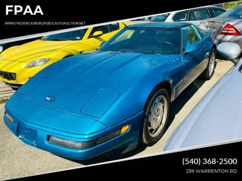 1994 Chevrolet Corvette for sale at FPAA in Fredericksburg VA