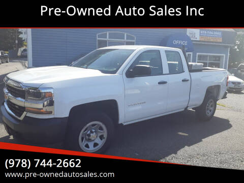2016 Chevrolet Silverado 1500 for sale at Pre-Owned Auto Sales Inc in Salem MA