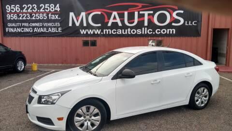 2014 Chevrolet Cruze for sale at MC Autos LLC in Pharr TX