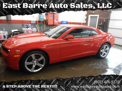 2012 Chevrolet Camaro for sale at East Barre Auto Sales, LLC in East Barre VT