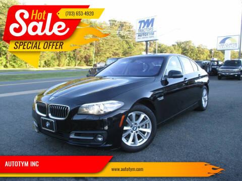 2015 BMW 5 Series for sale at AUTOTYM INC in Fredericksburg VA