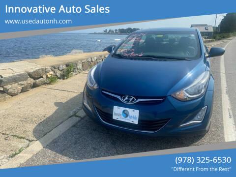2014 Hyundai Elantra for sale at Innovative Auto Sales in North Hampton NH