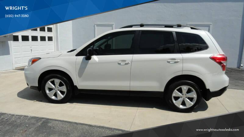 2016 Subaru Forester for sale at WRIGHT'S in Hillsboro KS