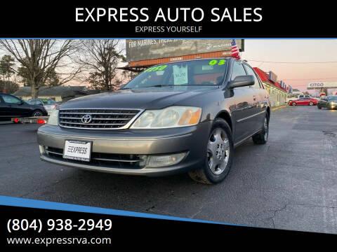2003 Toyota Avalon for sale at EXPRESS AUTO SALES in Midlothian VA