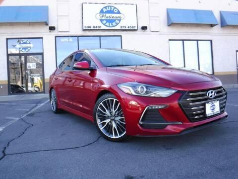 2018 Hyundai Elantra for sale at Platinum Auto Sales in Provo UT