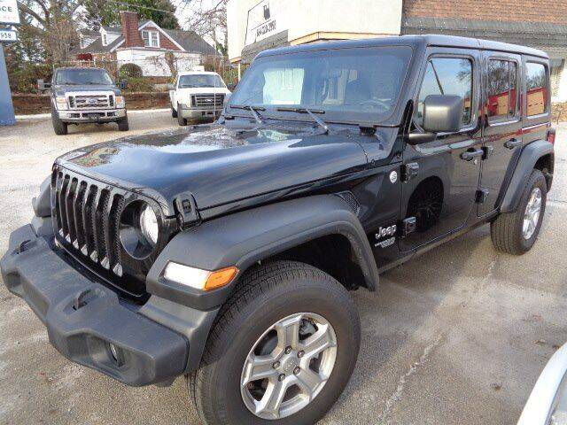2020 Jeep Wrangler Unlimited for sale at THE TRAIN AUTO SALES & LEASING in Mauldin SC