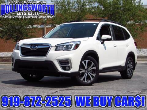 2019 Subaru Forester for sale at Hollingsworth Auto Sales in Raleigh NC