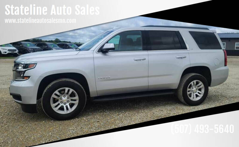 2015 Chevrolet Tahoe for sale at Stateline Auto Sales in Mabel MN