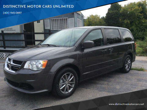 2016 Dodge Grand Caravan for sale at DISTINCTIVE MOTOR CARS UNLIMITED in Johnston RI