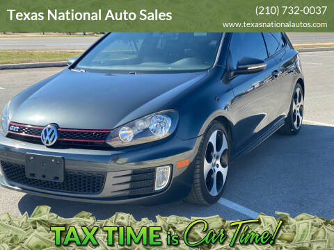 2013 Volkswagen GTI for sale at Texas National Auto Sales in San Antonio TX