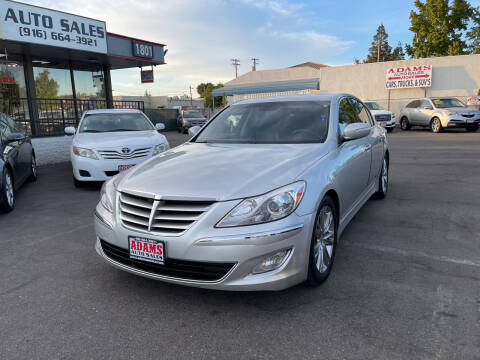 2012 Hyundai Genesis for sale at Adams Auto Sales in Sacramento CA