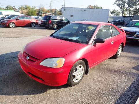 2001 Honda Civic for sale at Transportation Outlet Inc in Eastlake OH
