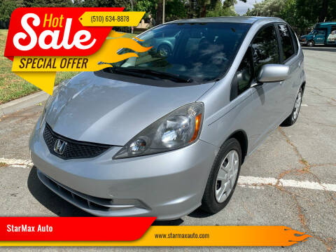 2013 Honda Fit for sale at StarMax Auto in Fremont CA