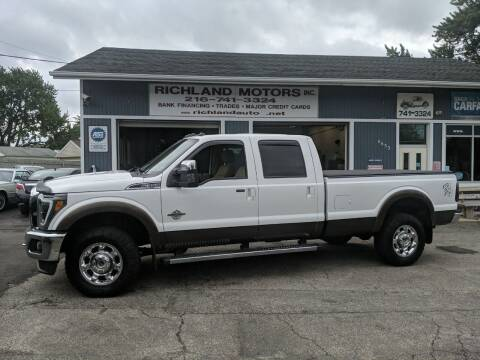 2016 Ford F-350 Super Duty for sale at Richland Motors in Cleveland OH