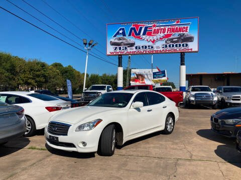 2011 Infiniti M37 for sale at ANF AUTO FINANCE in Houston TX