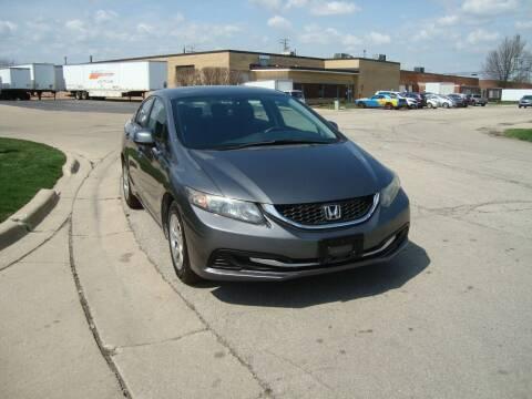 2013 Honda Civic for sale at ARIANA MOTORS INC in Addison IL