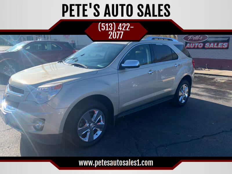 2013 Chevrolet Equinox for sale at PETE'S AUTO SALES - Middletown in Middletown OH