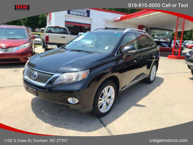2011 Lexus RX 450h for sale at CRAIGE MOTOR CO in Durham NC