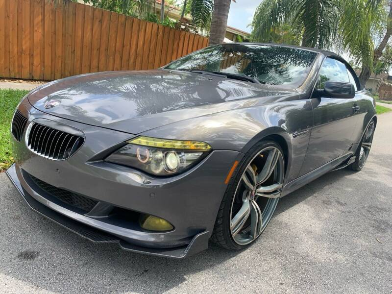 2008 BMW 6 Series for sale at FINANCIAL CLAIMS & SERVICING INC in Hollywood FL