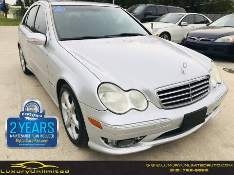 2007 Mercedes-Benz C-Class for sale at LUXURY UNLIMITED AUTO SALES in San Antonio TX