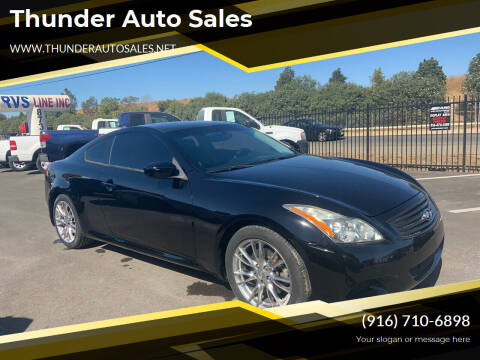 2008 Infiniti G37 for sale at Thunder Auto Sales in Sacramento CA