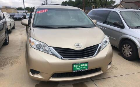 2013 Toyota Sienna for sale at Auto Haus Imports in Grand Prairie TX