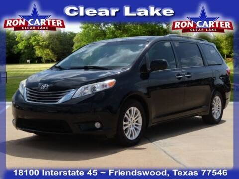 2017 Toyota Sienna for sale at Ron Carter  Clear Lake Used Cars in Houston TX