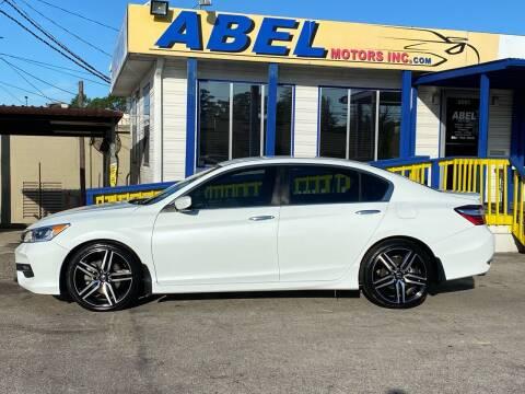 2017 Honda Accord for sale at Abel Motors, Inc. in Conroe TX