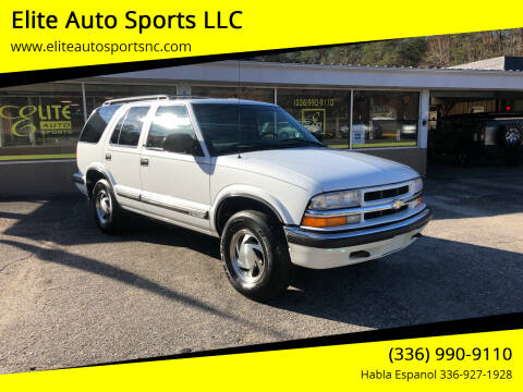 1999 Chevrolet Blazer for sale at Elite Auto Sports LLC in Wilkesboro NC