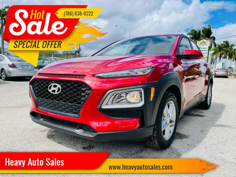 2021 Hyundai Kona for sale at Heavy Auto Sales in Miami FL
