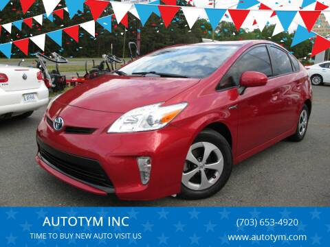 2015 Toyota Prius for sale at AUTOTYM INC in Fredericksburg VA