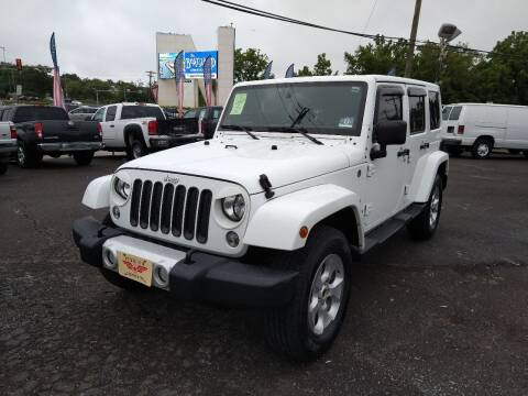2014 Jeep Wrangler Unlimited for sale at P J McCafferty Inc in Langhorne PA