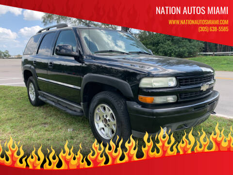 2005 Chevrolet Tahoe for sale at Nation Autos Miami in Hialeah FL