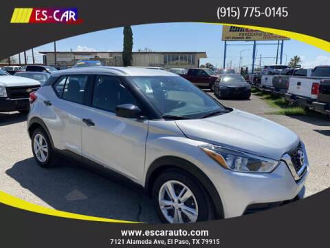 2020 Nissan Kicks for sale at Escar Auto - 9809 Montana Ave Lot in El Paso TX
