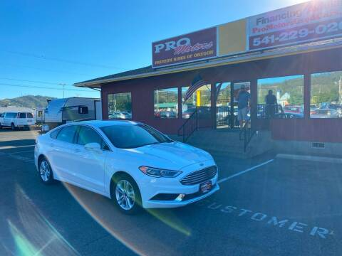 2018 Ford Fusion for sale at Pro Motors in Roseburg OR