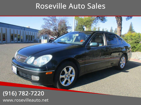 2001 Lexus GS 300 for sale at Roseville Auto Sales in Roseville CA