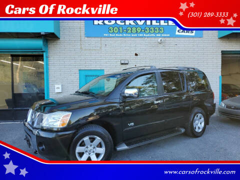 2005 Nissan Armada for sale at Cars Of Rockville in Rockville MD