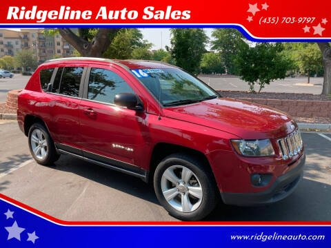 2016 Jeep Compass for sale at Ridgeline Auto Sales in Saint George UT