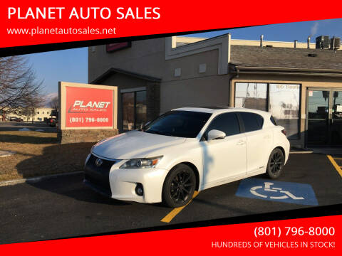 2013 Lexus CT 200h for sale at PLANET AUTO SALES in Lindon UT