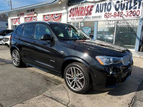 2017 BMW X3 for sale at Sunrise Auto Outlet in Amityville NY