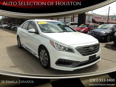 2016 Hyundai Sonata for sale at Auto Selection of Houston in Houston TX