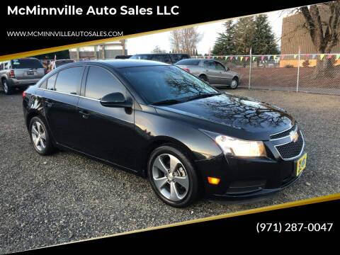 2011 Chevrolet Cruze for sale at McMinnville Auto Sales LLC in Mcminnville OR